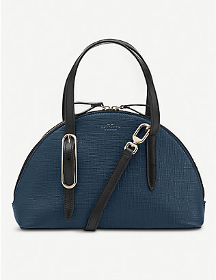 SMYTHSON: Moon-shaped leather shoulder bag