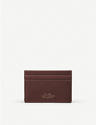 SMYTHSON: Panama cross-grain leather card holder