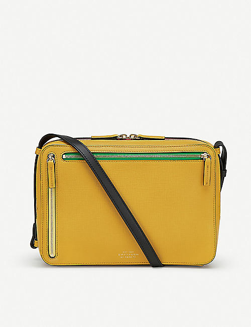 SMYTHSON Sliding strap leather cross-body bag