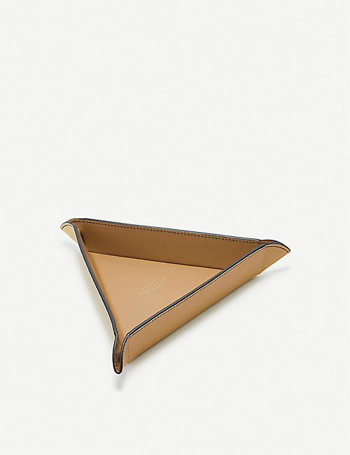 SMYTHSON Triangle small leather trinket tray