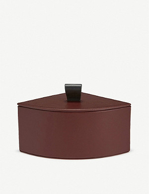 SMYTHSON Quarter Circle leather jewellery box