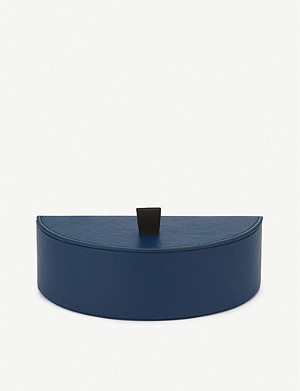 SMYTHSON Semi Circle leather jewellery box