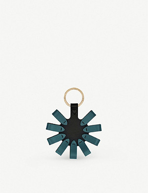 SMYTHSON Loop circle leather keyring