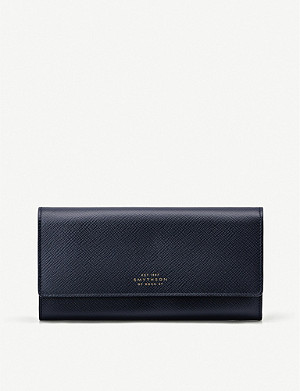 SMYTHSON Panama leather coin purse