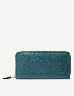 SMYTHSON Panama leather zip purse