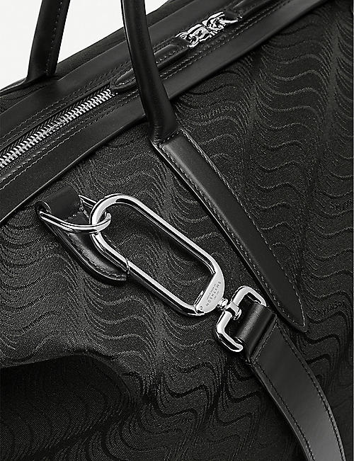 SMYTHSON S-Monogram canvas and leather holdall