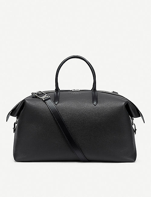 SMYTHSON: Zip Guard grained leather travel bag