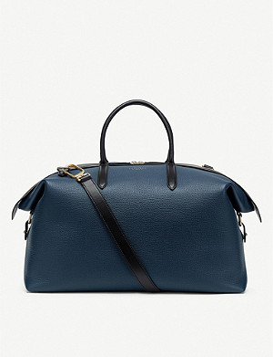 SMYTHSON Zip Guard grained leather travel bag