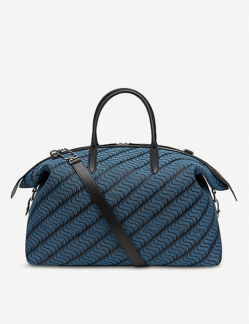 SMYTHSON Monogram cotton weekend bag