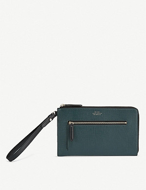 SMYTHSON Zip-through leather pochette