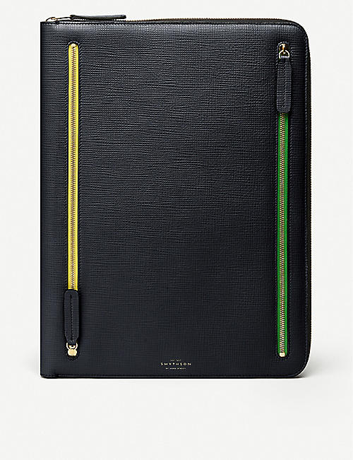 SMYTHSON Panama leather portfolio case