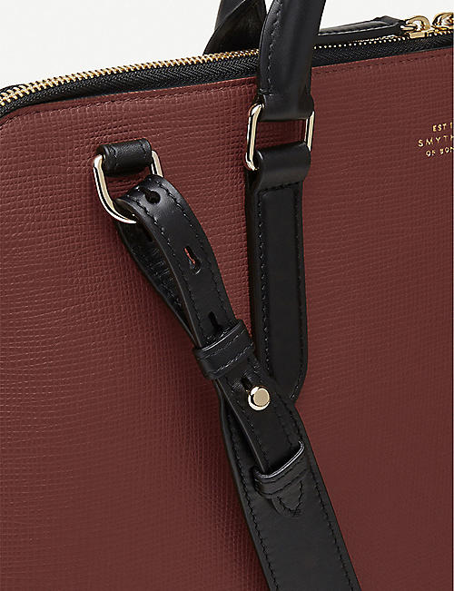 SMYTHSON Slim leather briefcase