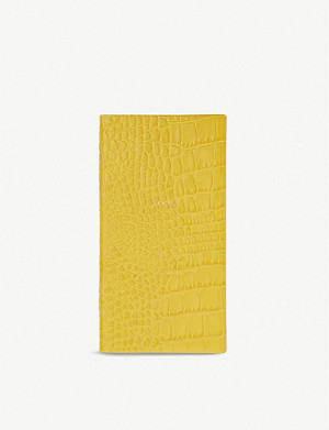SMYTHSON Memoranda 2020 crocodile embossed leather diary