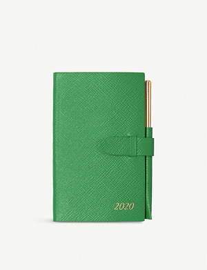 SMYTHSON 2020 Panama leather diary and gilt pencil set