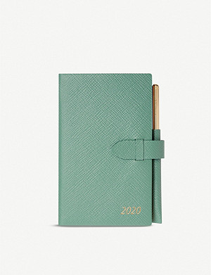 SMYTHSON Panama crossgrain leather 2020 diary with pencil 19cm x 14cm