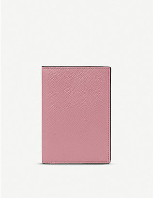 SMYTHSON: Panama leather passport cover