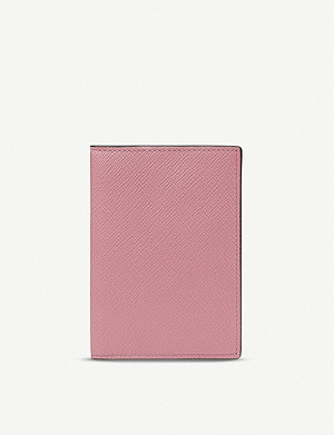SMYTHSON Panama leather passport cover