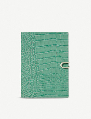 SMYTHSON Soho croc-embossed leather 2020 diary 19cm x 14cm