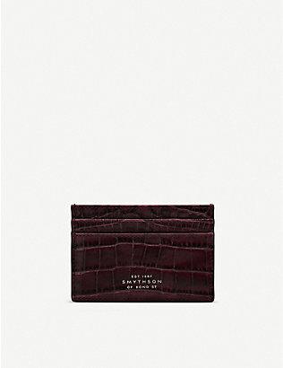 SMYTHSON: Mara leather card holder