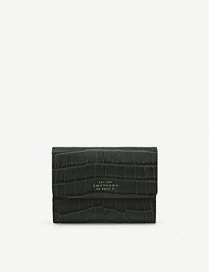 SMYTHSON Mara crocodile-embossed leather coin purse