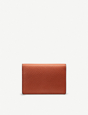 SMYTHSON Panama leather business and credit card holder