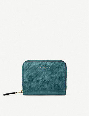 SMYTHSON Panama crossgrain leather coin purse