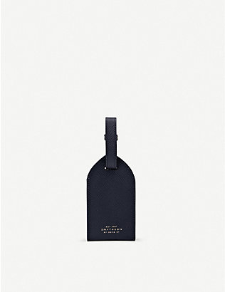 SMYTHSON: Panama leather luggage tag