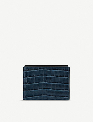 SMYTHSON Mara crocodile-embossed leather card and note holder
