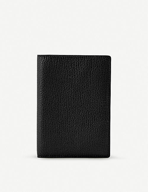 SMYTHSON: Grained leather passport holder