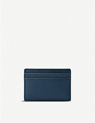 SMYTHSON: Grain leather five-card holder