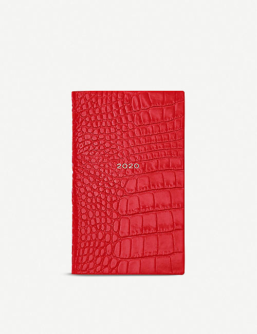 SMYTHSON Panama 2020 crocodile-embossed leather diary 14cm x 9cm