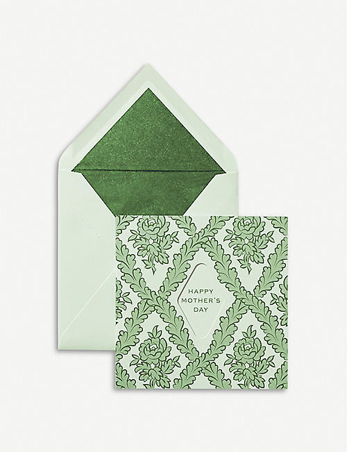 SMYTHSON Happy Mother's Day greetings card 15cm x 15cm