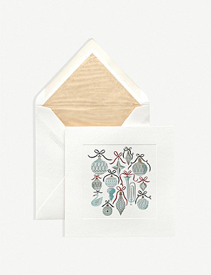 SMYTHSON Graphic-print woven cards pack of 10