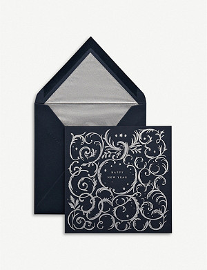 SMYTHSON Happy New Year gift card 15cm
