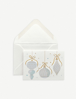 SMYTHSON Baubles gift cards pack of 10 6.5cm x 9.5cm