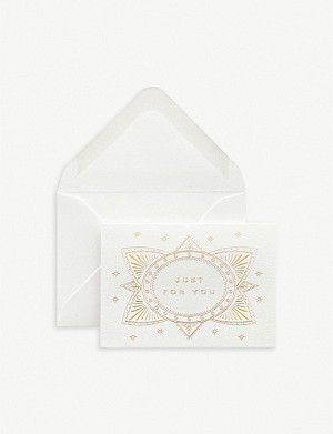 SMYTHSON Just for You gift cards pack of 10 6.5cm x 9.5cm