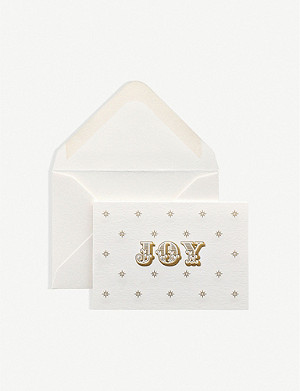 SMYTHSON Joy gift cards pack of 10 6.5cm x 9.5cm