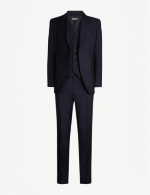 REISS Washington modern-fit wool and mohair-blend suit