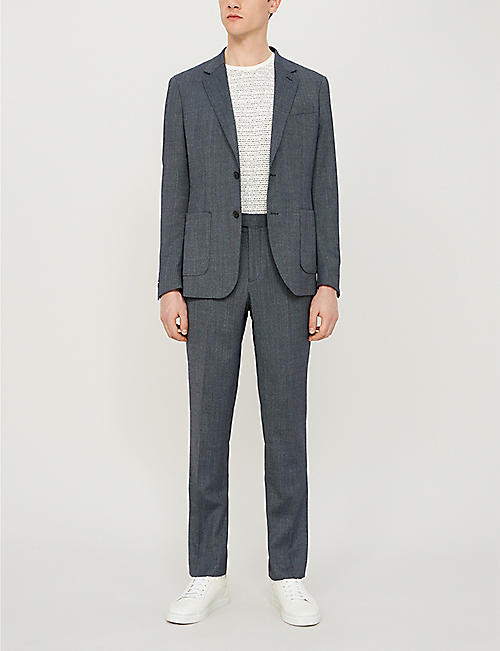 REISS Ohio regular-fit woven-twill blazer