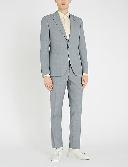 REISS Wangle puppytooth-patterned wool-blend blazer