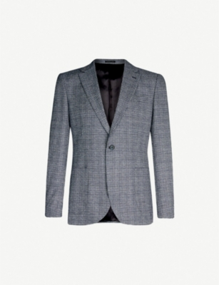 REISS General Prince of Wales regular-fit checked blazer