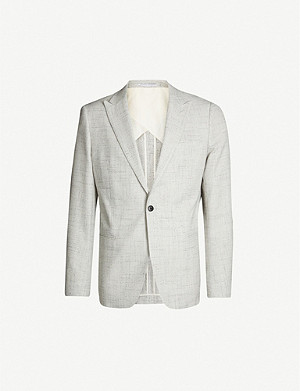 REISS Deeper slim-fit cotton and wool-blend blazer
