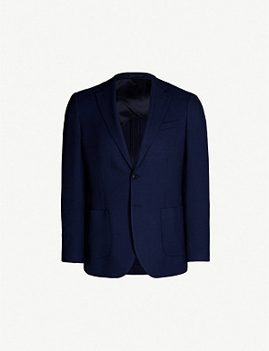 REISS Albert slim-fit wool-piqué blazer