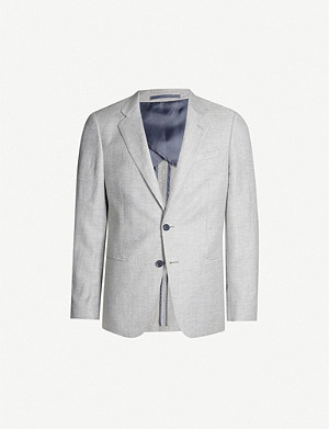 REISS Lift wool and linen-blend blazer