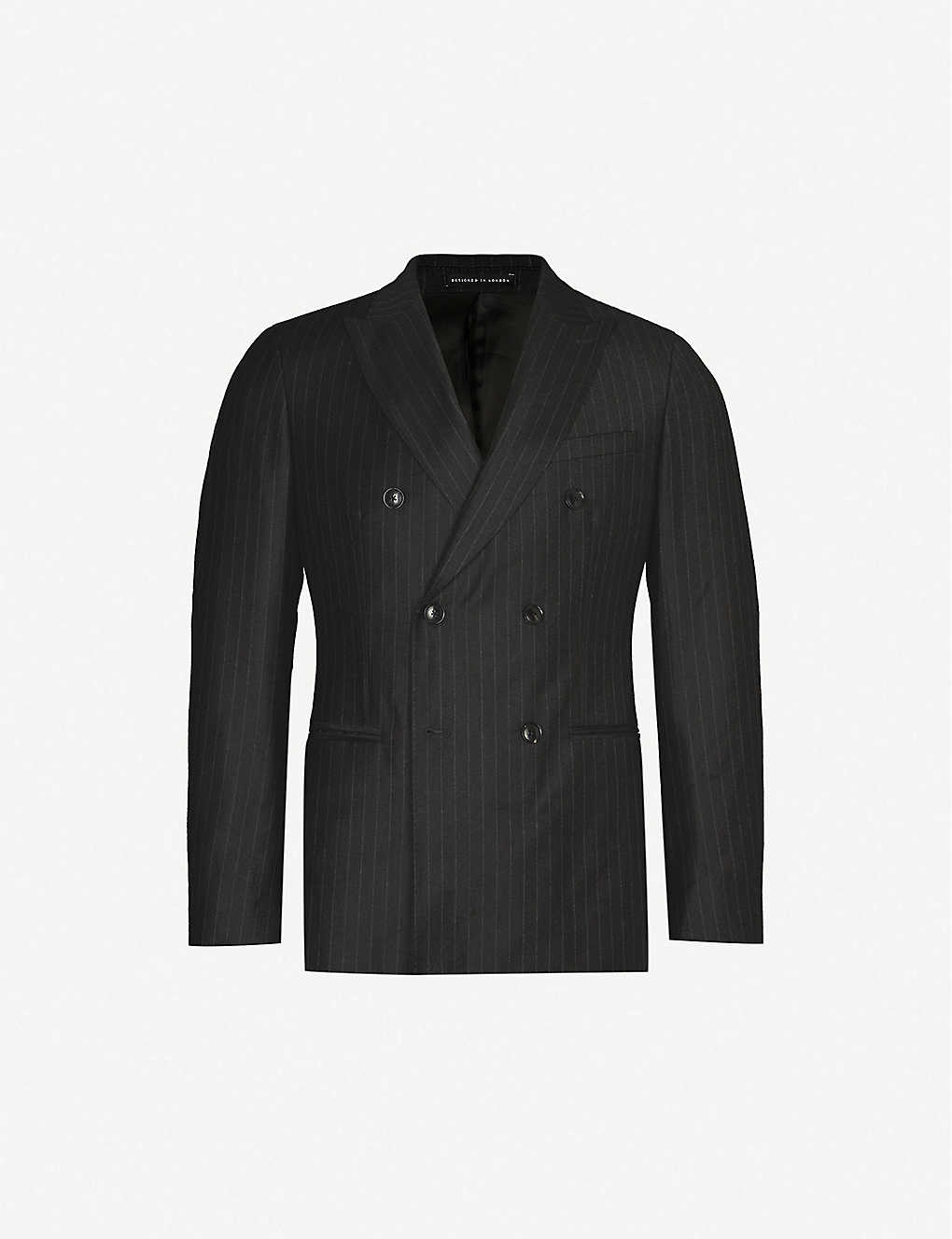 REISS: Salan pinstriped slim-fit wool blazer