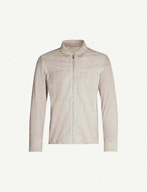 REISS Marlo patch-pocket suede jacket