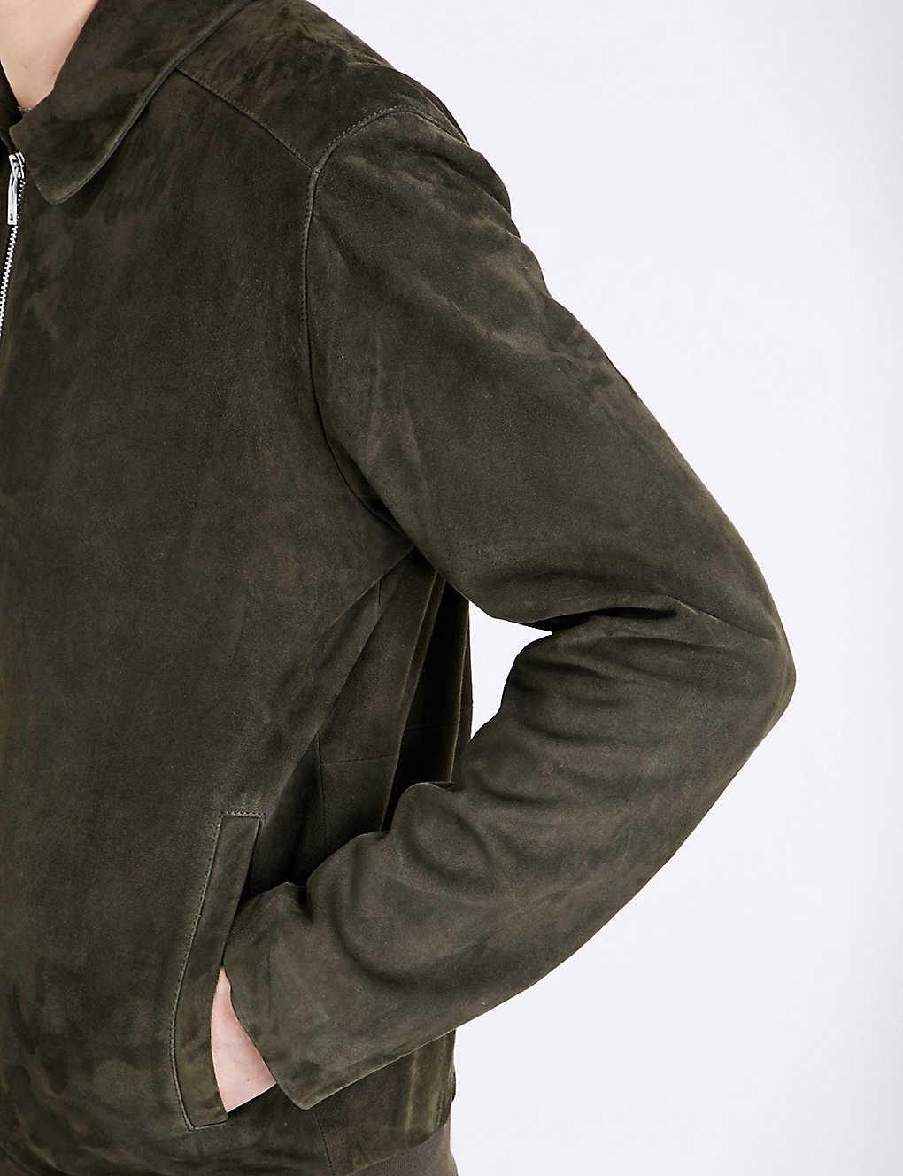 e332fee1a REISS - Holt collared suede jacket | Selfridges.com