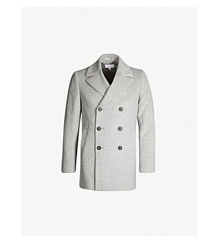 3f1e8996d99 REISS Bogart double-breasted wool-blend coat (Soft+grey