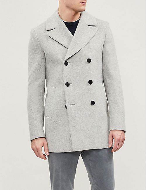 cfd68474660 REISS - Bogart double-breasted wool-blend coat