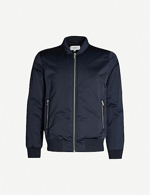 REISS Blossum lightweight shell bomber jacket